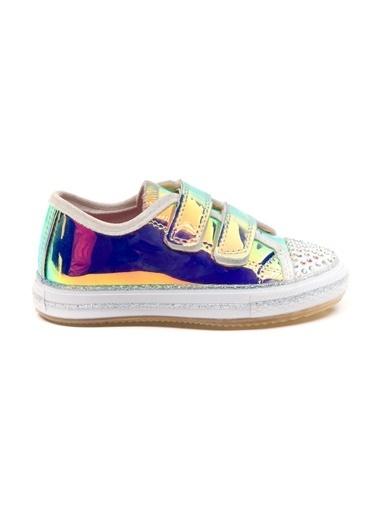 minipicco Kız Cocuk Hologram Ortopedik Destekli Spor Ayakkabı Pembe